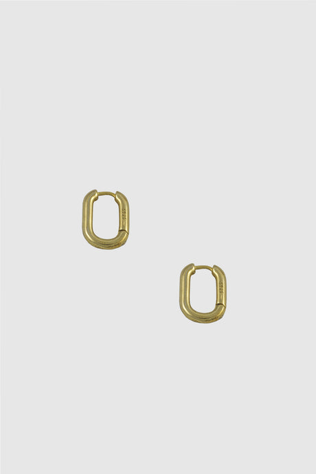 Link hoop earrings, small