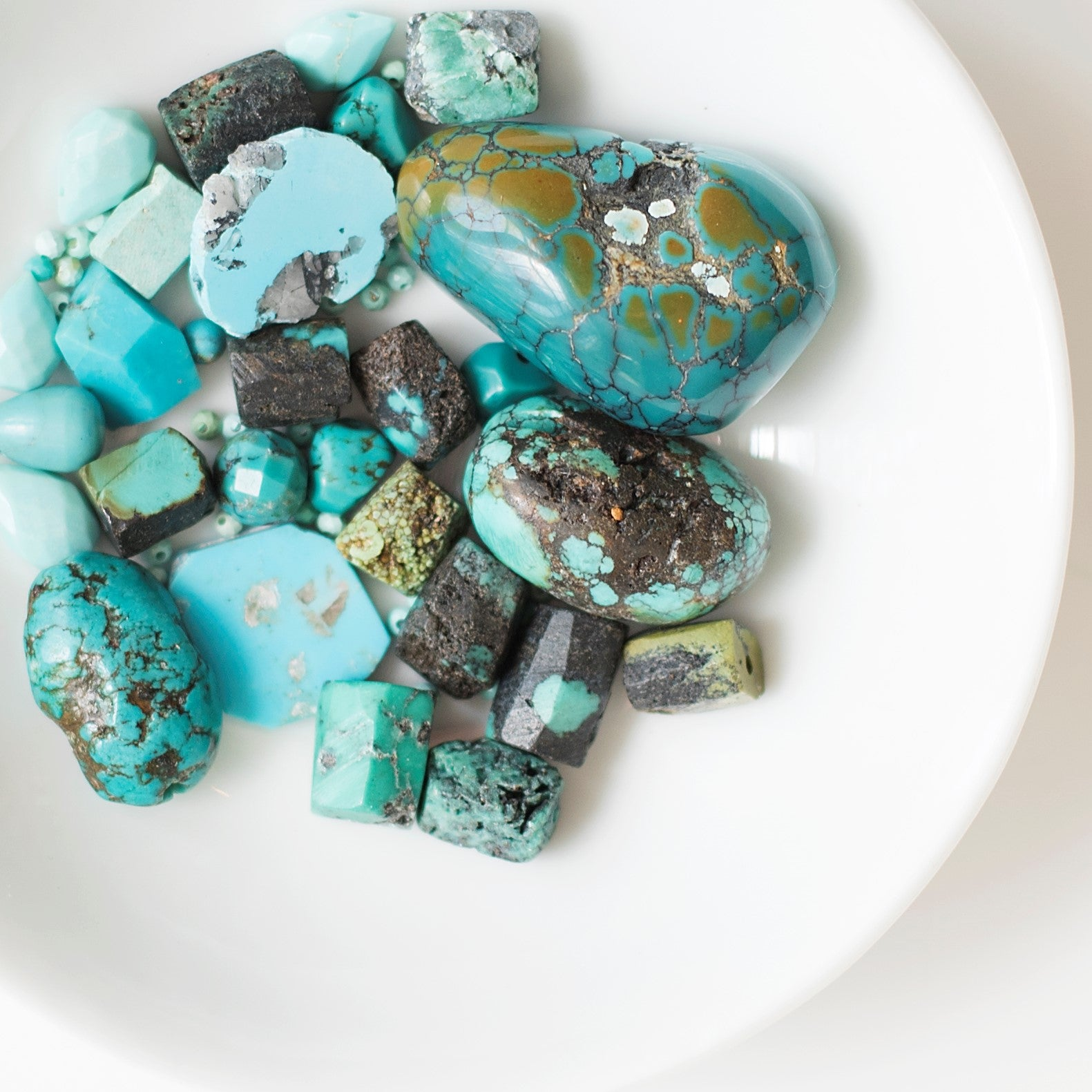 Turquoise Treasured by virtually every ancient culture, turquoise remains highly sought after for its vivid color, rich historical significance, and famed healing properties. Protection and luck are two qualities said to be imparted by turquoise, and many