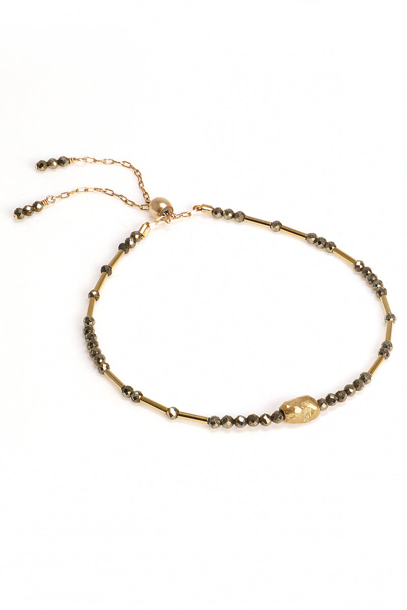 Pyrite Liquid Gold Bracelet