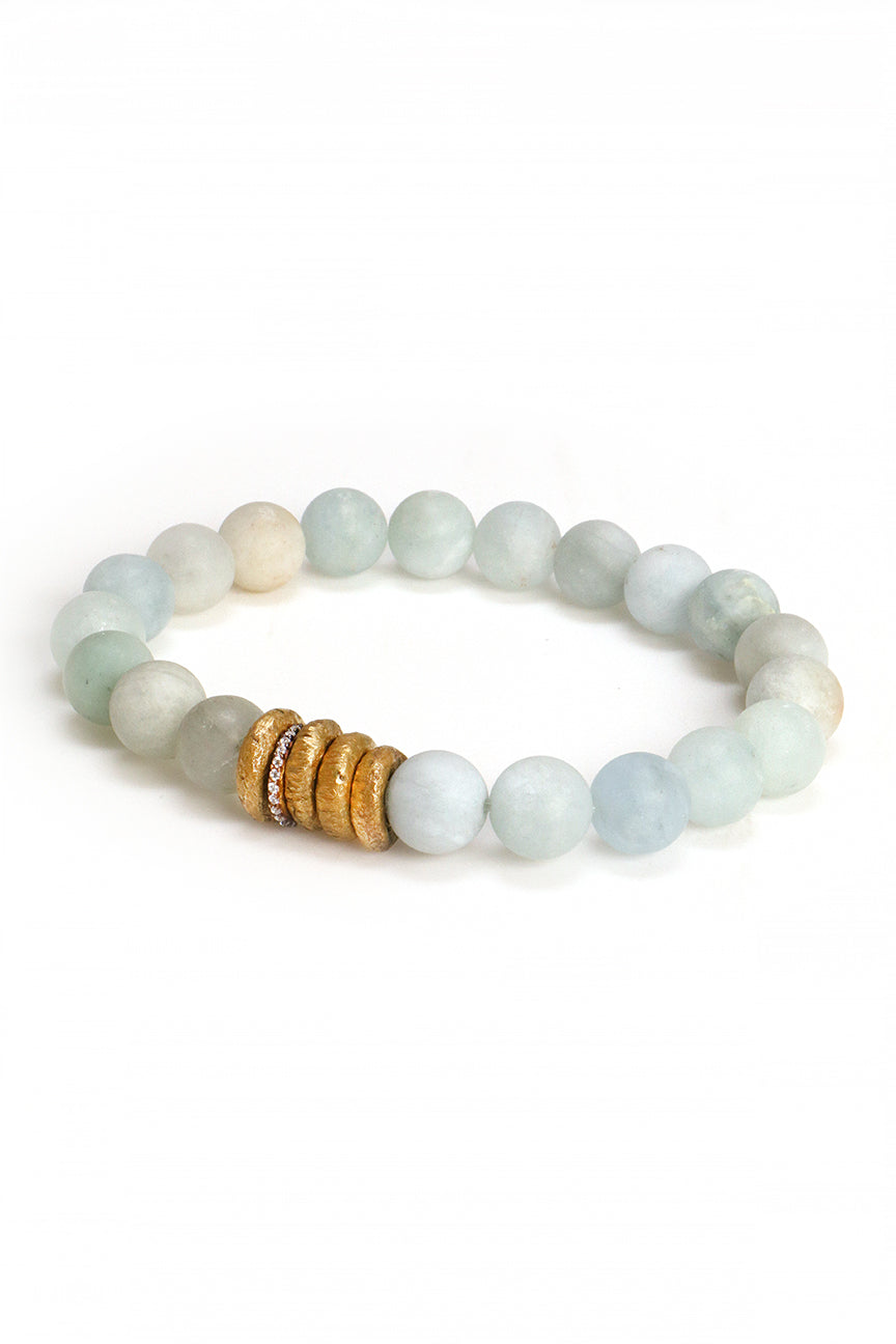 Aquamarine and Gold Bracelet