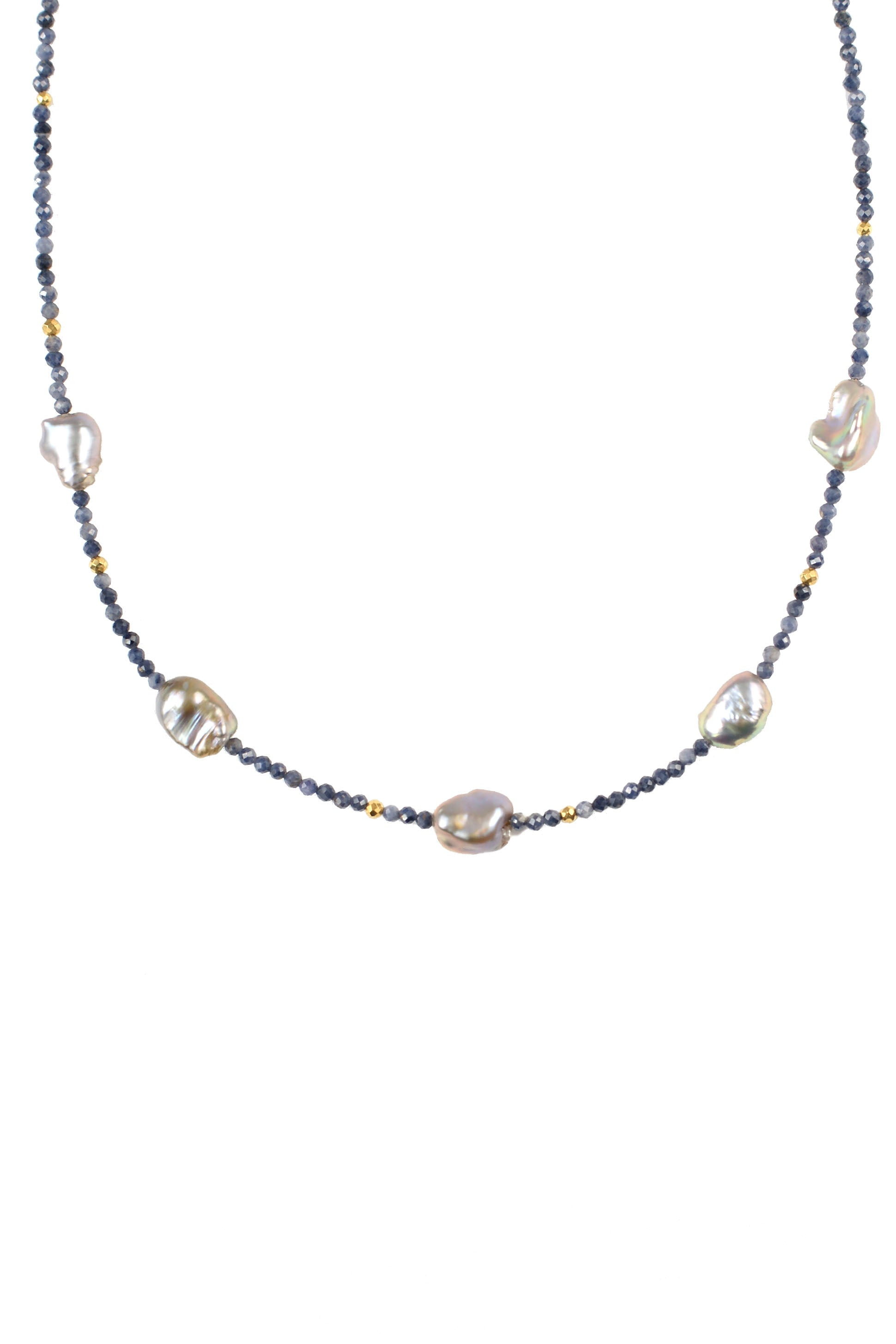 Sapphire Pearl Necklace