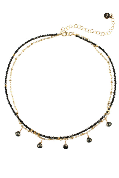 Black Spinel and Pyrite Necklace