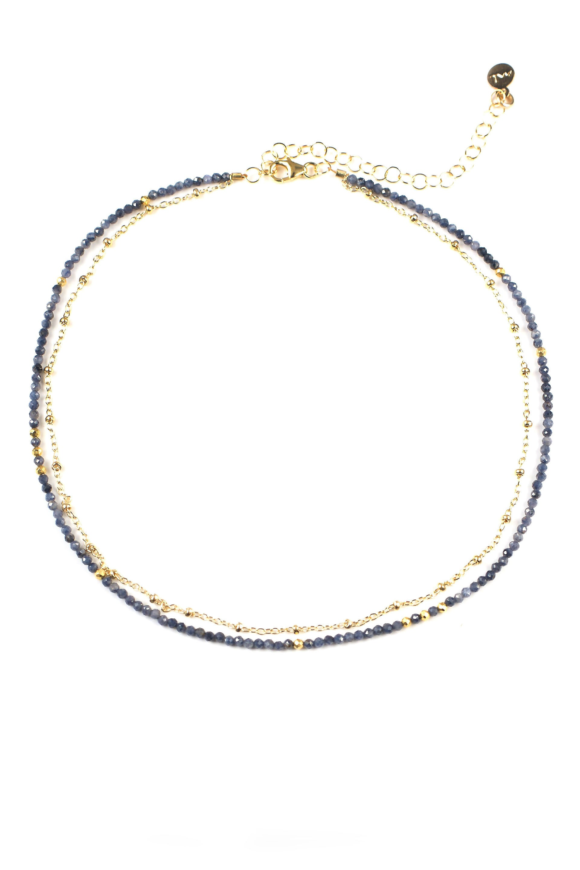 Sapphire Two Strand Necklace