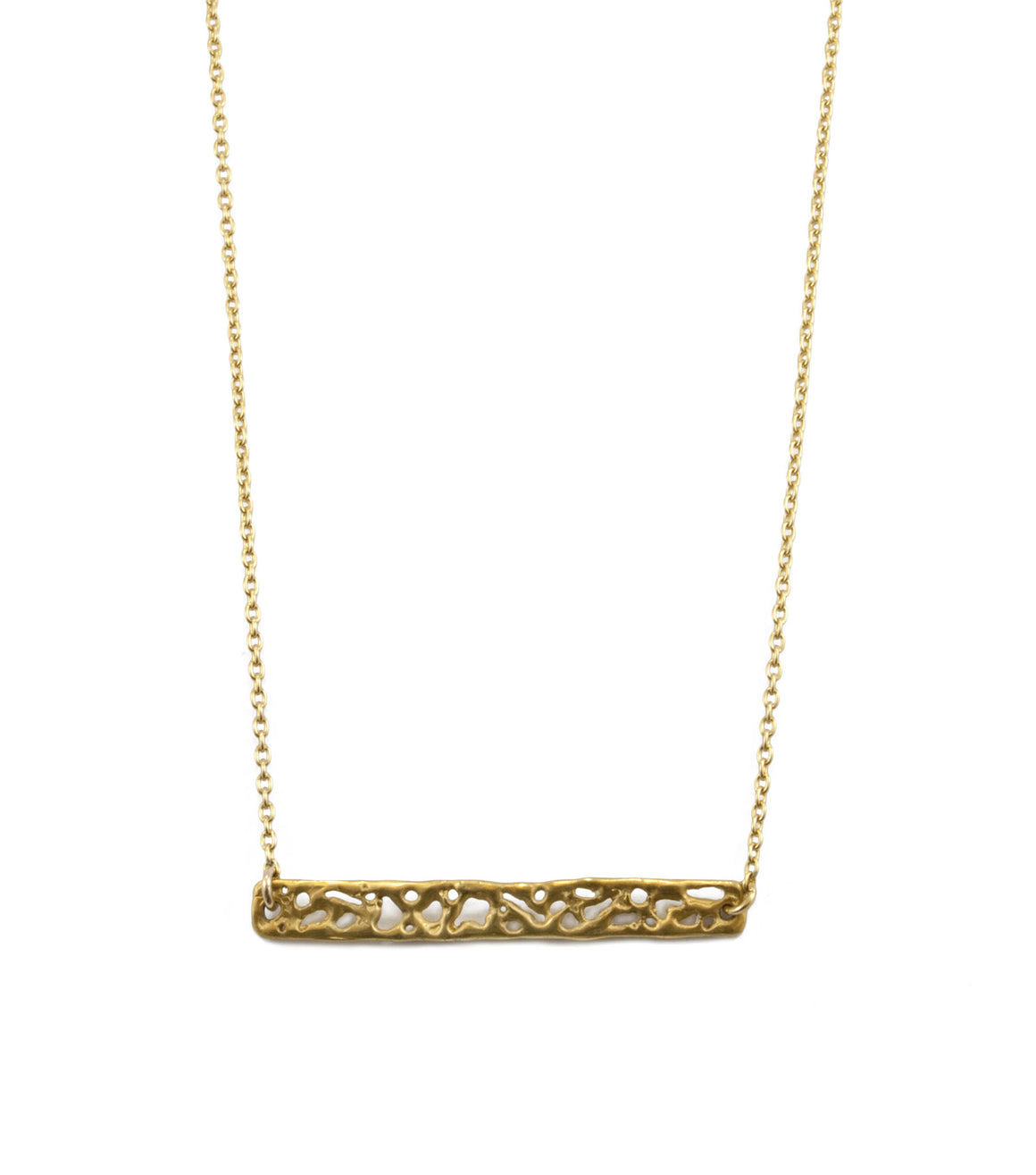Liquid Gold Bar Necklace
