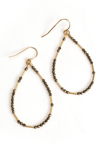 Pyrite Liquid Gold Hoops