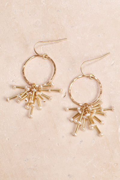 Pearl Starburst and Gold Earrings