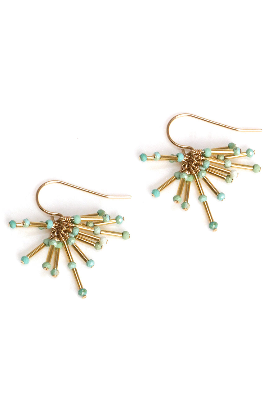 Turquoise Starburst Earrings