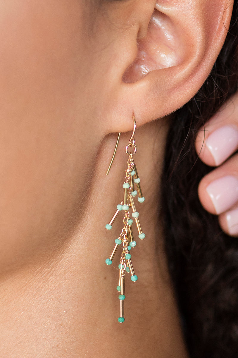 Turquoise Foxtail Earrings