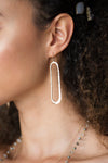 Hammered Ellipse Earrings