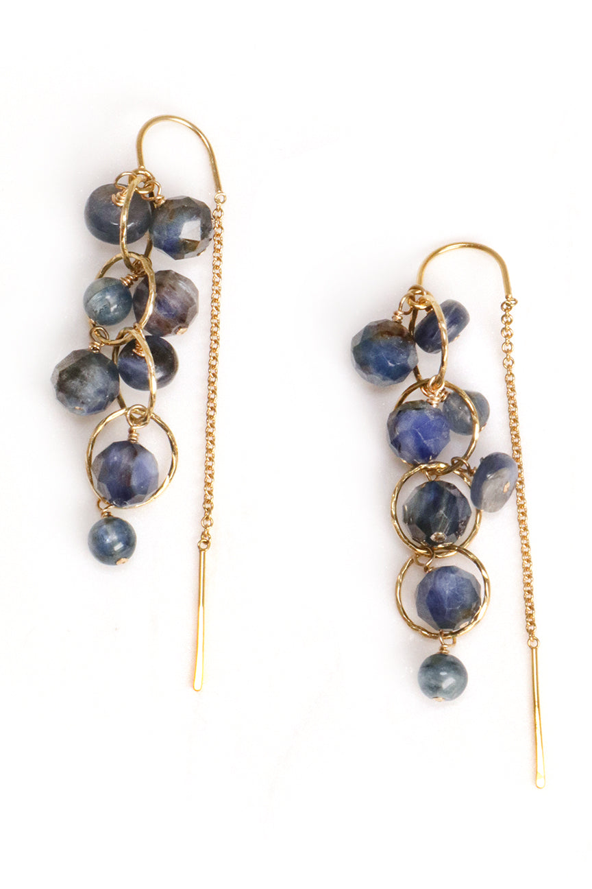 Kyanite Cluster Earrings
