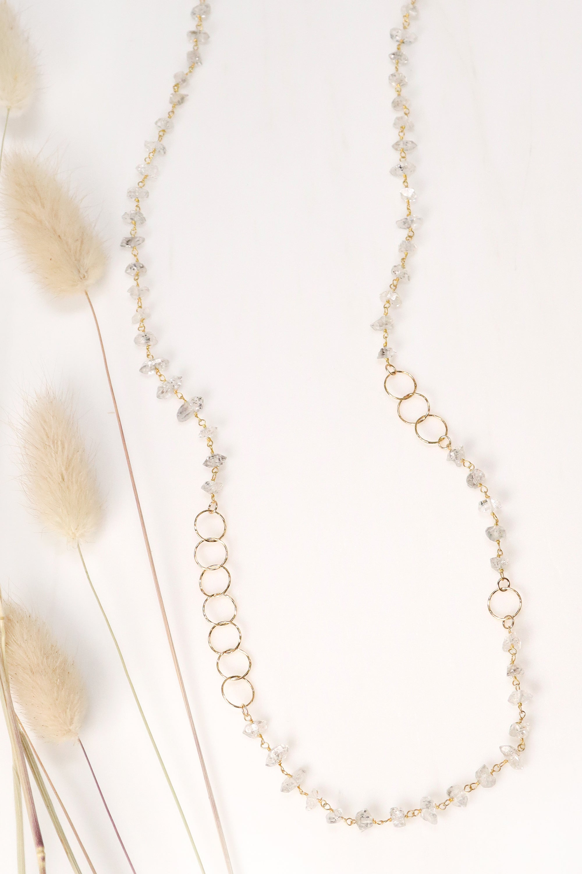 Herkimer Diamond Layering Necklace