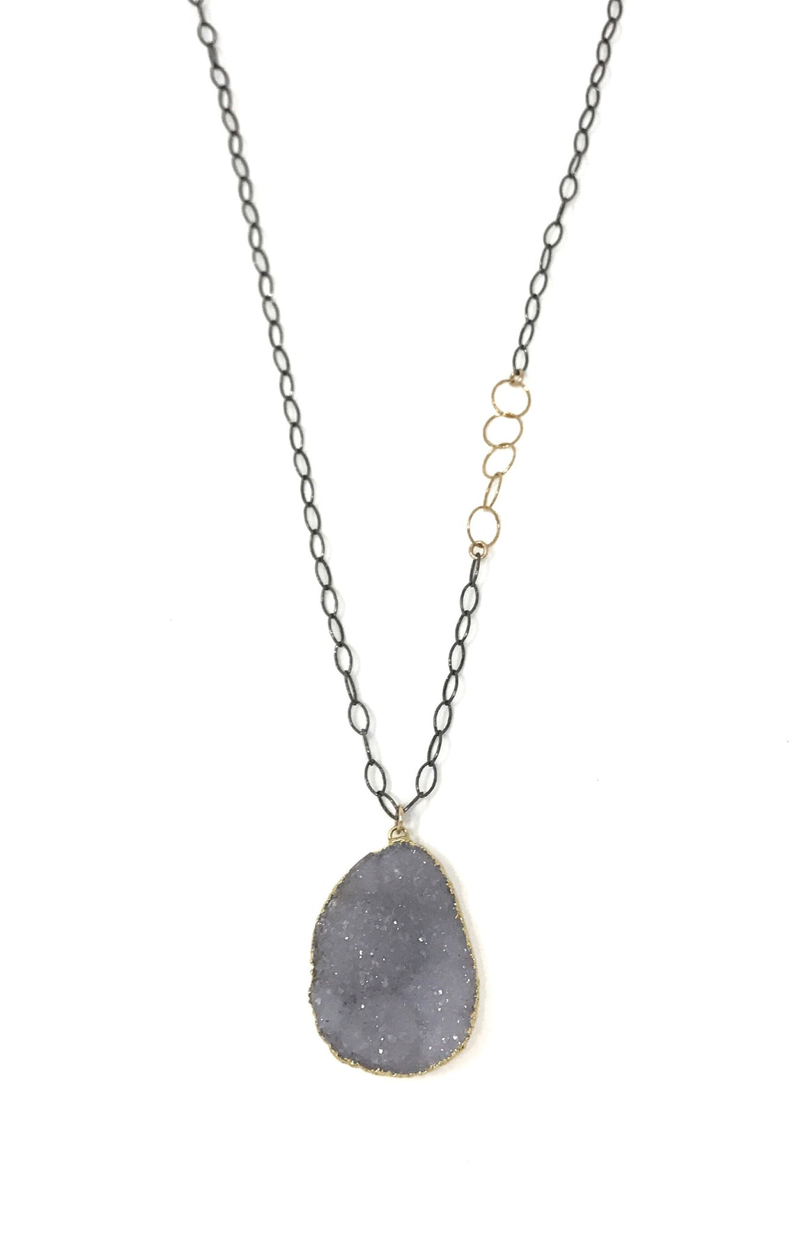 Metta Necklace in Gunmetal and Gold