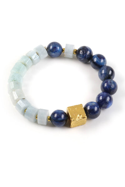 Kyanite Aquamarine Bracelet