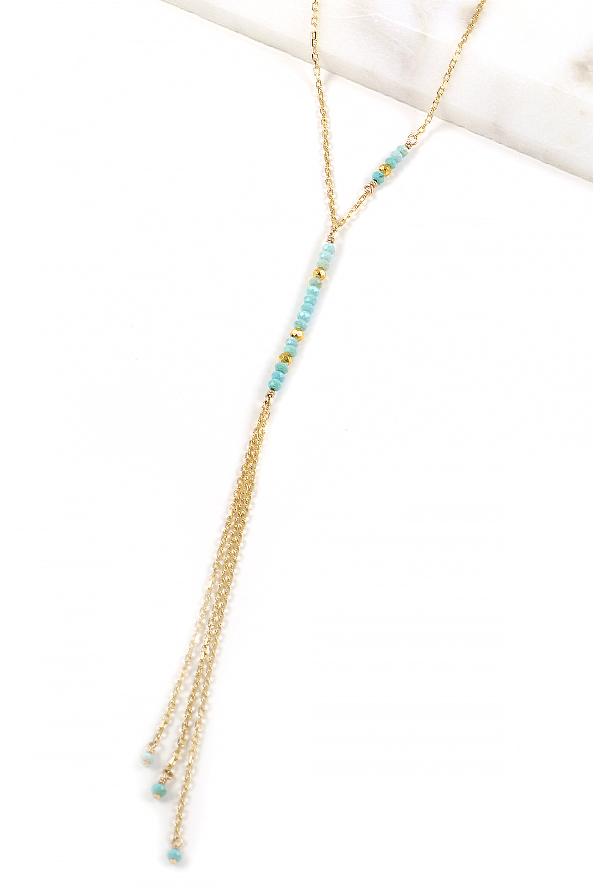 Turquoise Waterfall Necklace