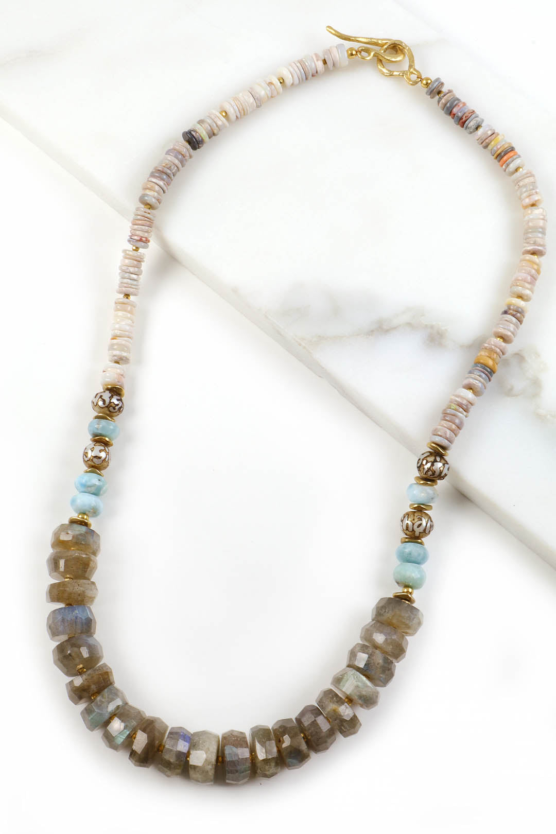 Labradorite Boulder Opal Necklace