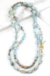 Larimar and Labradorite Statement Necklace