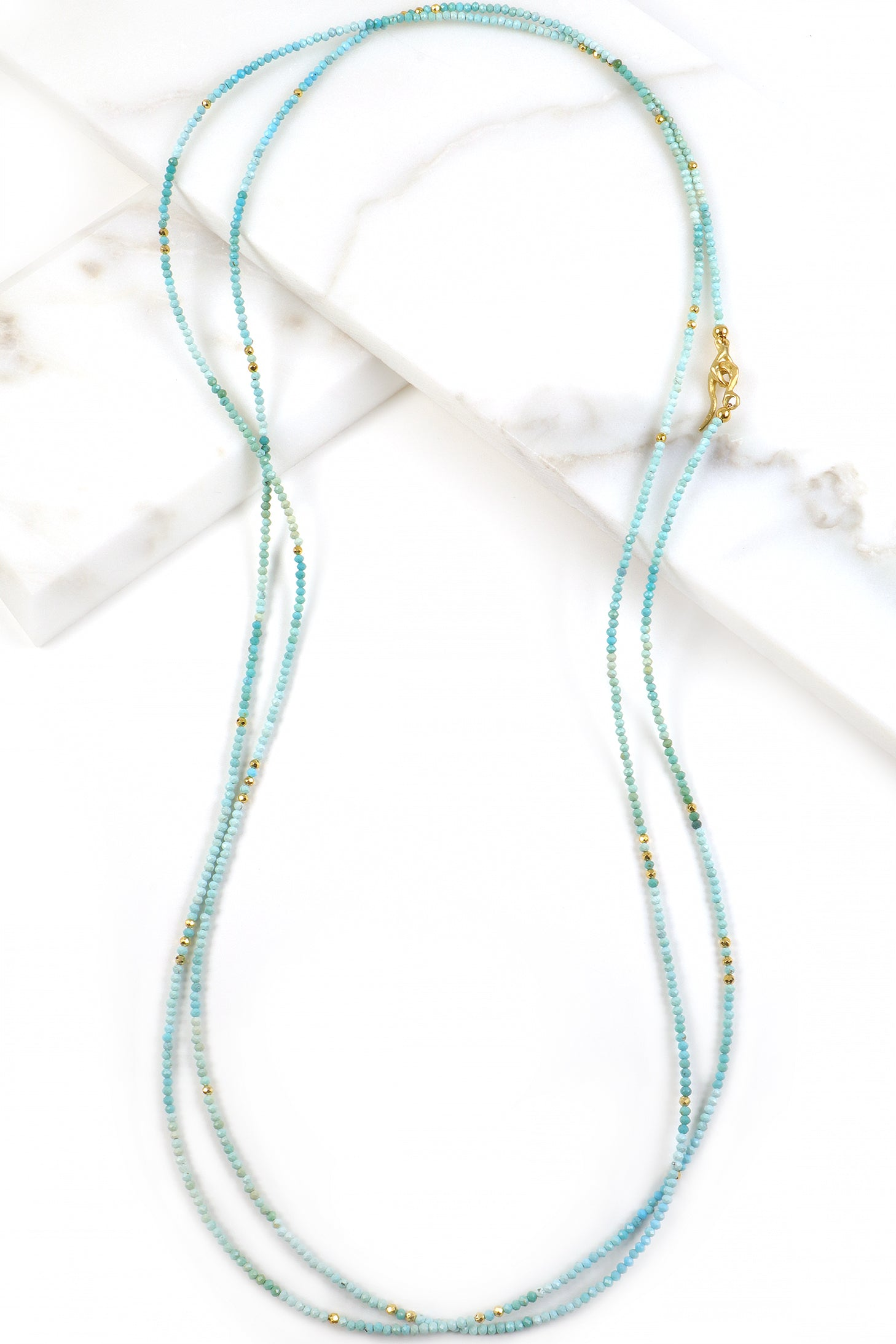 Turquoise Ombré Layering Necklace