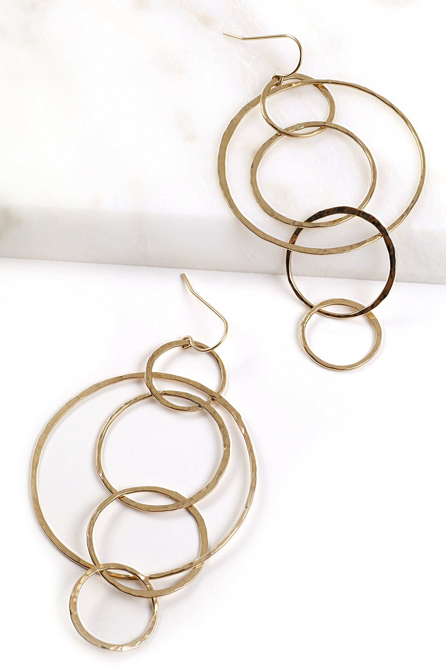 Hammered Circular Earrings