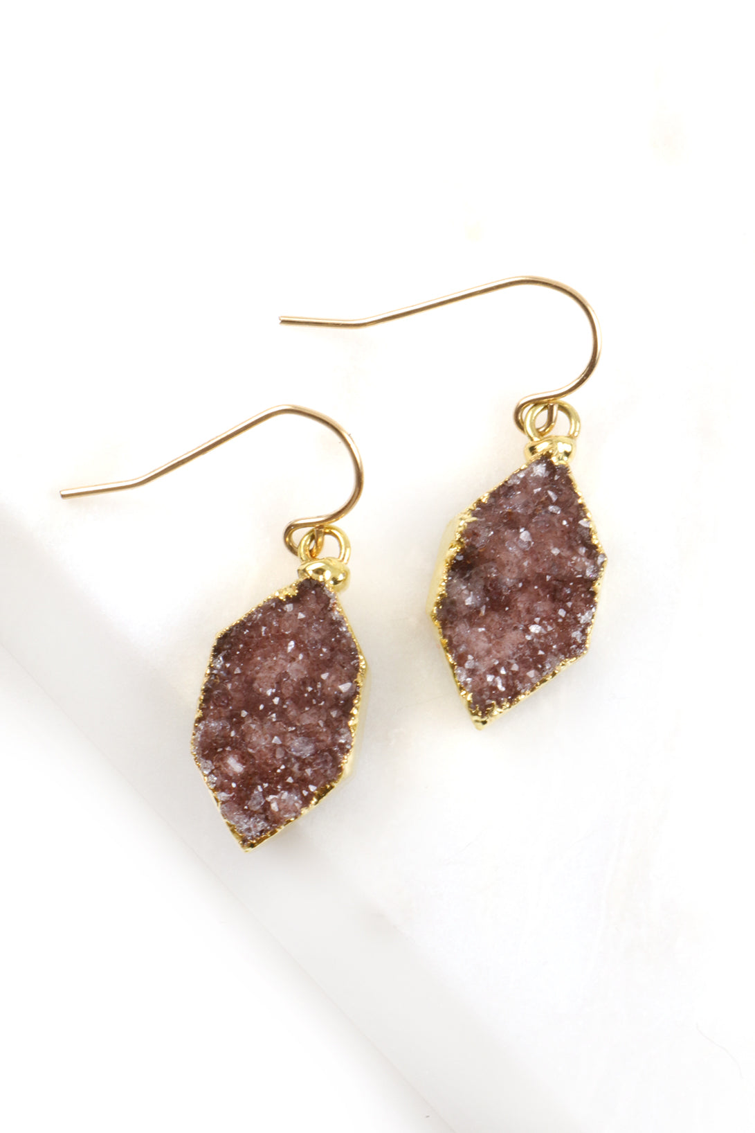 Be Happy Harlequin Druzy Earrings