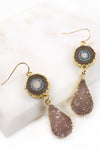 Stalactite & Druzy Drop Earrings