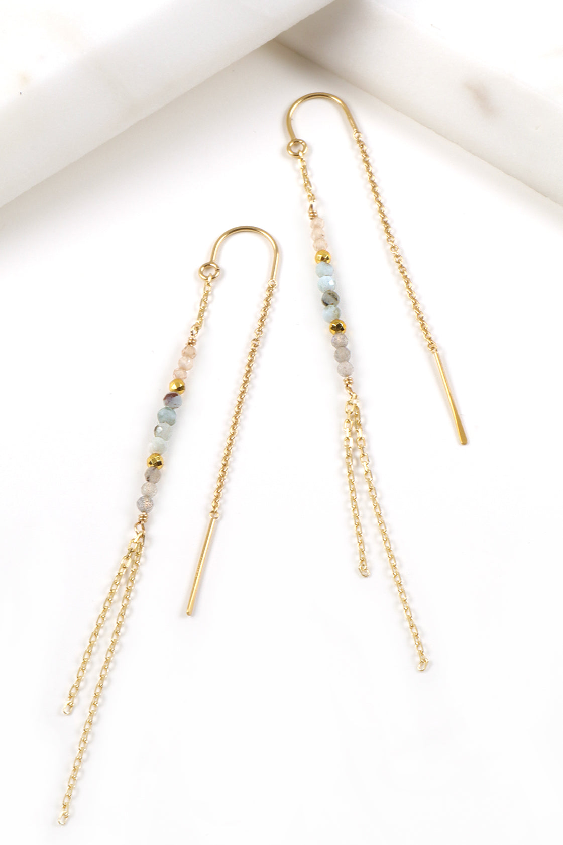 Larimar Threader Earrings