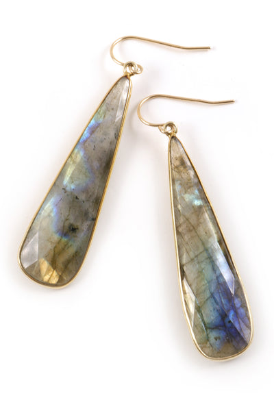Labradorite Bell Earrings