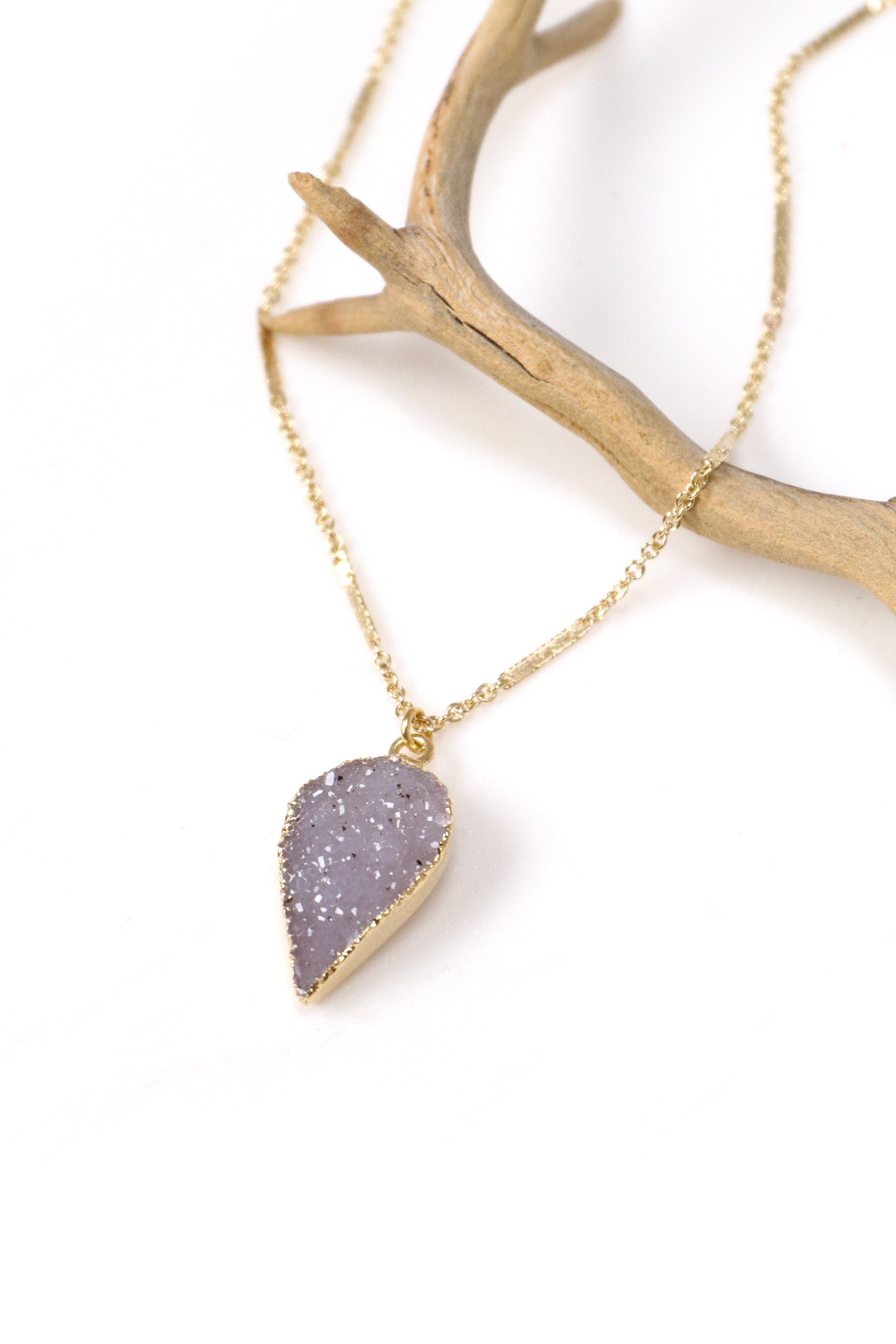 Petal Druzy Gold Necklace