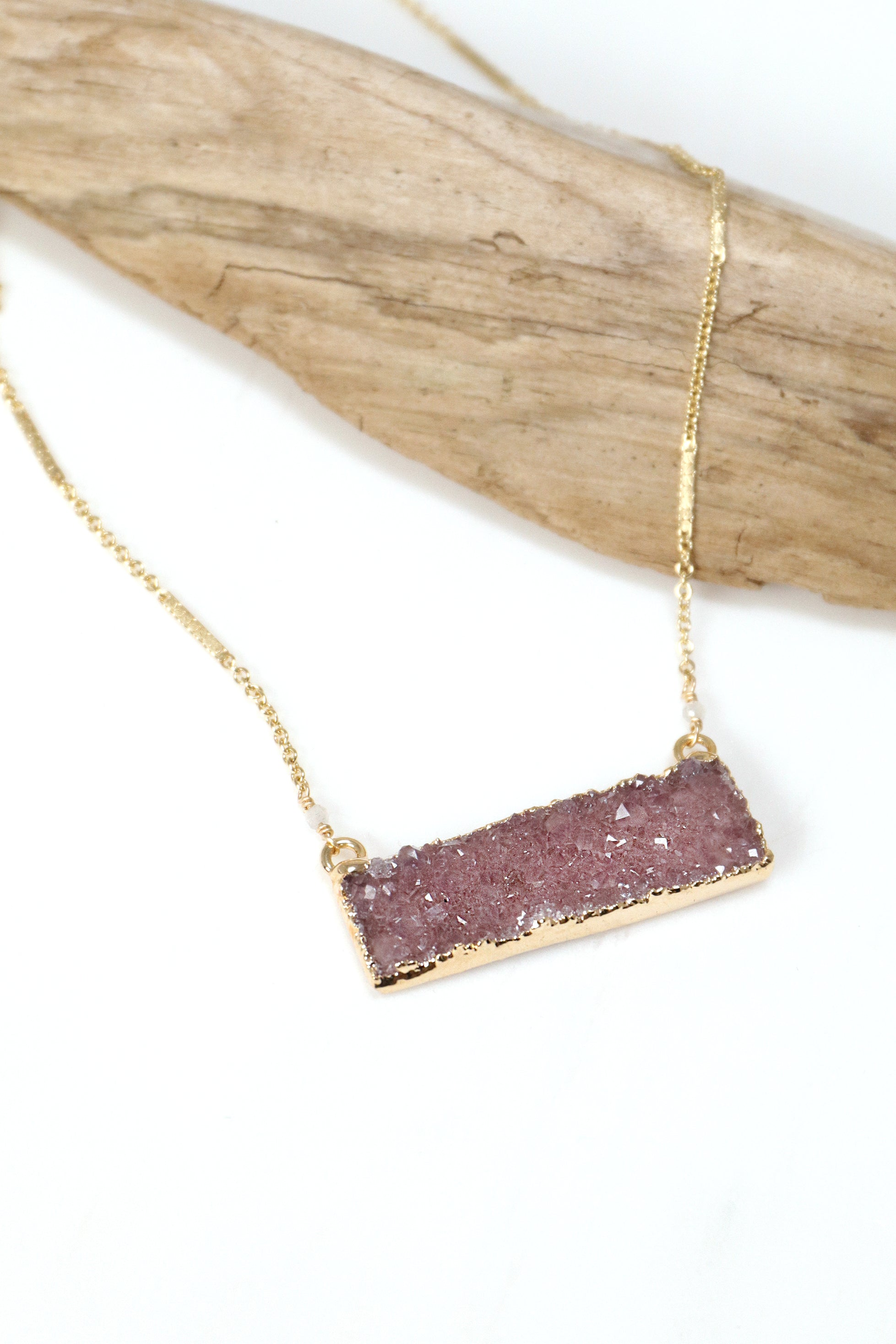Peace Is The Path Druzy Necklace