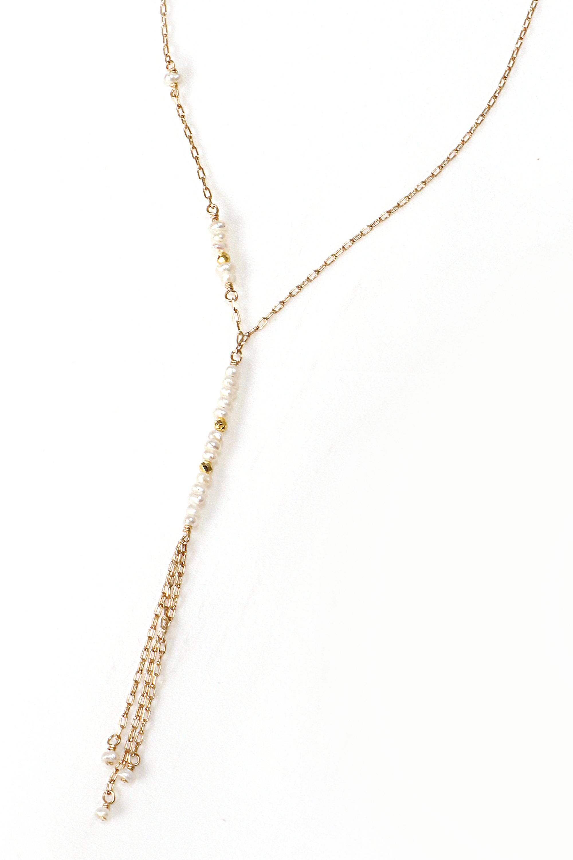 Pearl Petite Waterfall Necklace