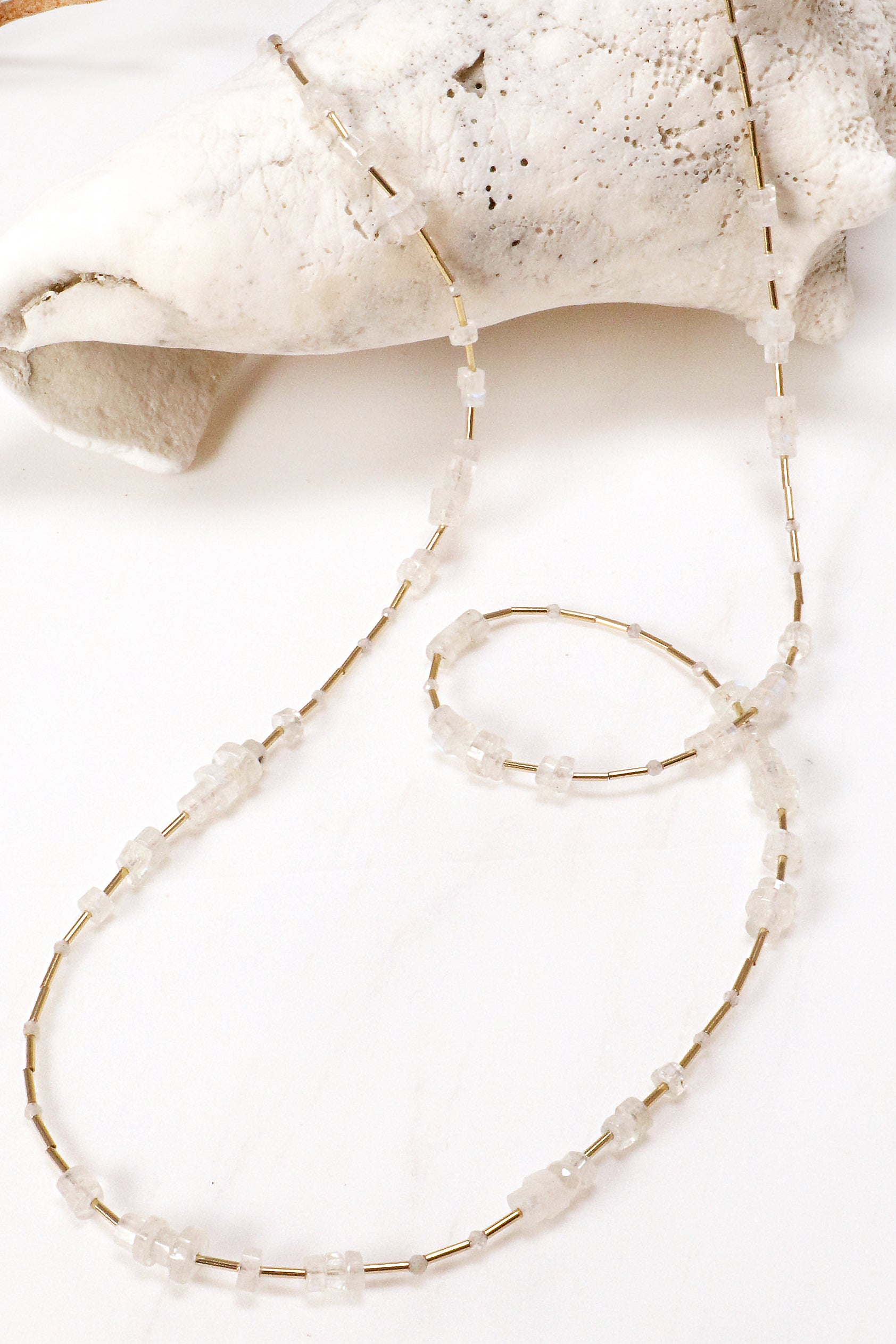 Moonstone Layering Necklace