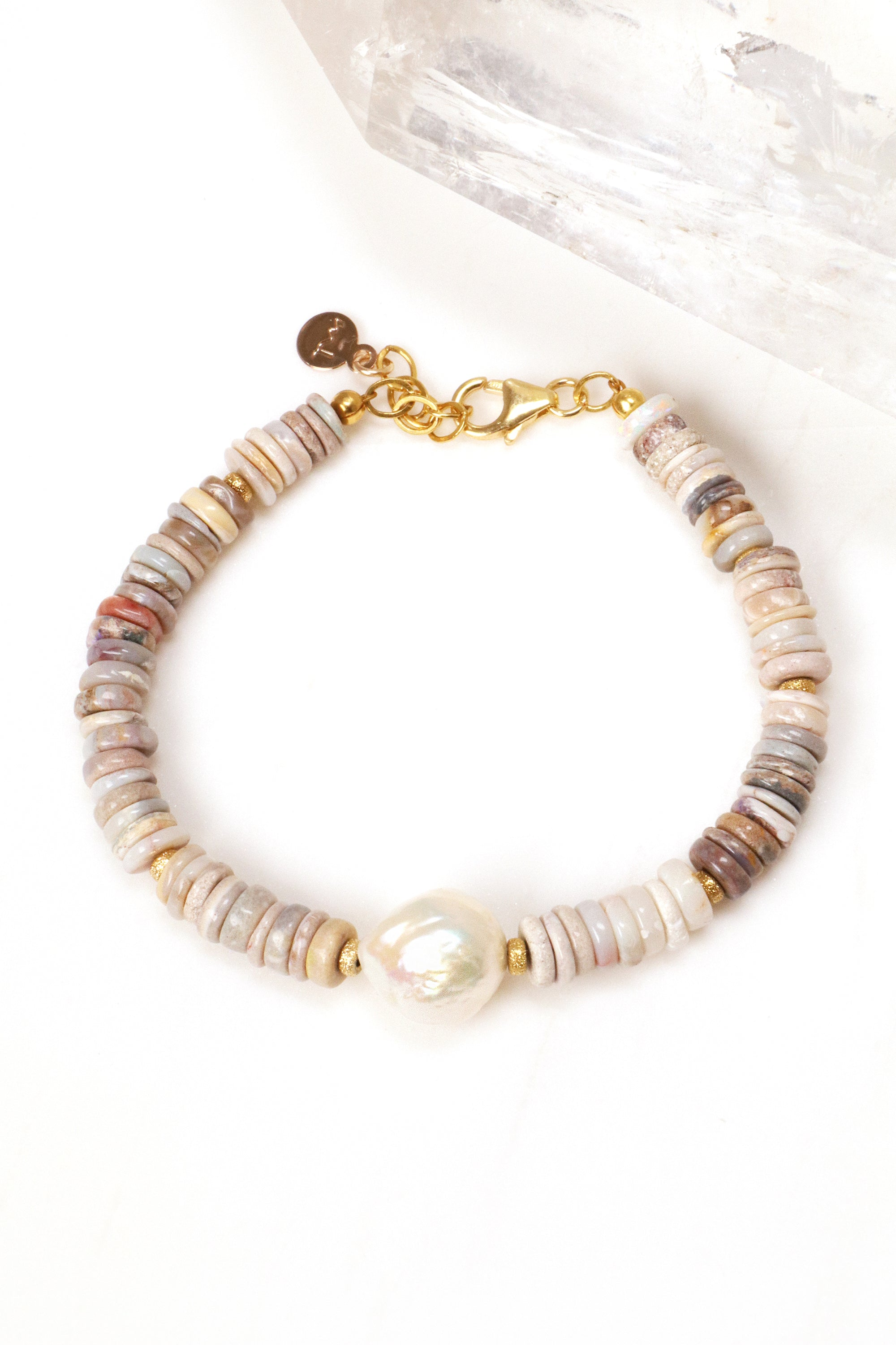 Opal and Pearl Bracelet