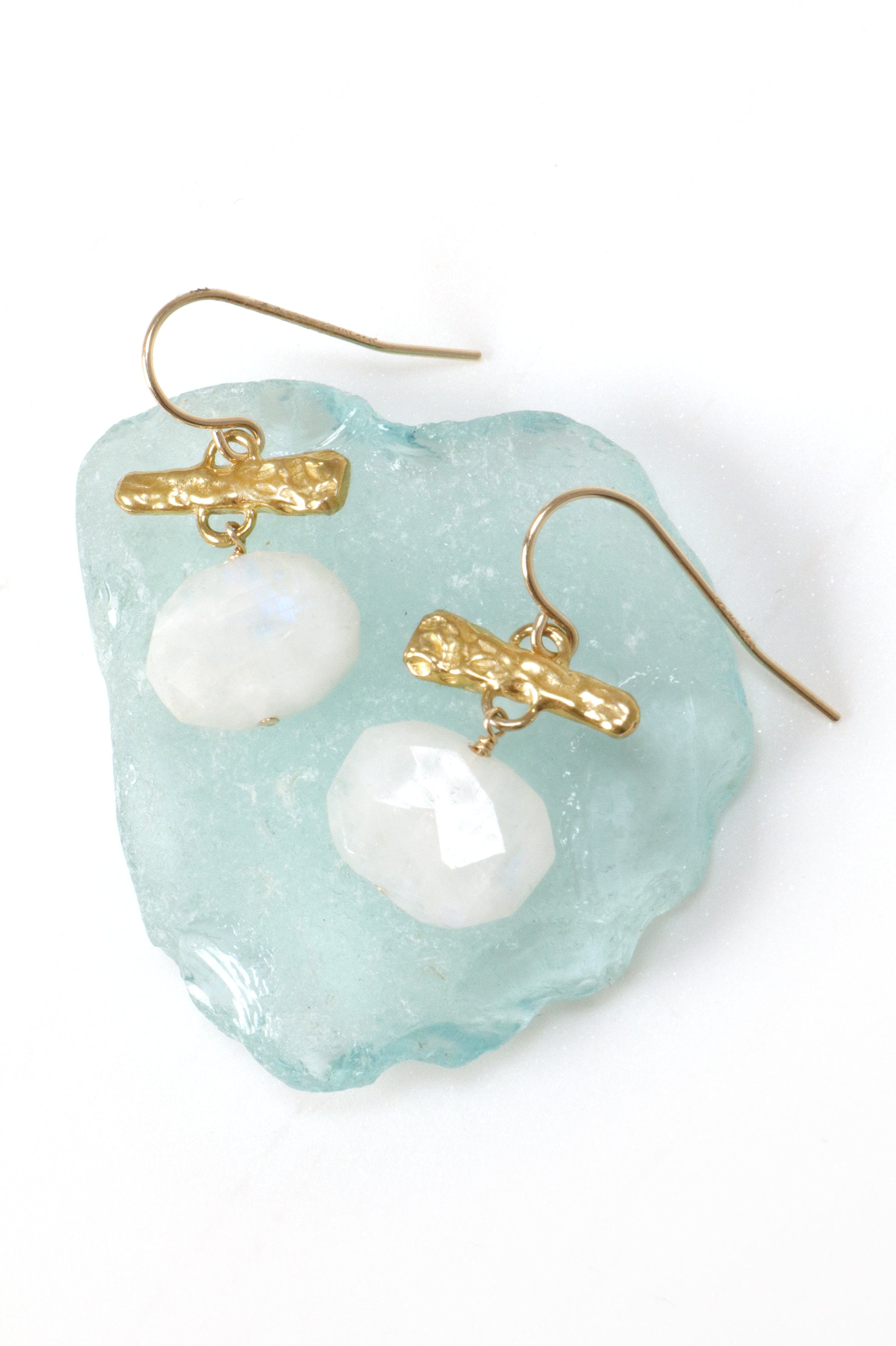 Moonstone Oval drops