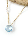 Blue Topaz and Herkimer Necklace
