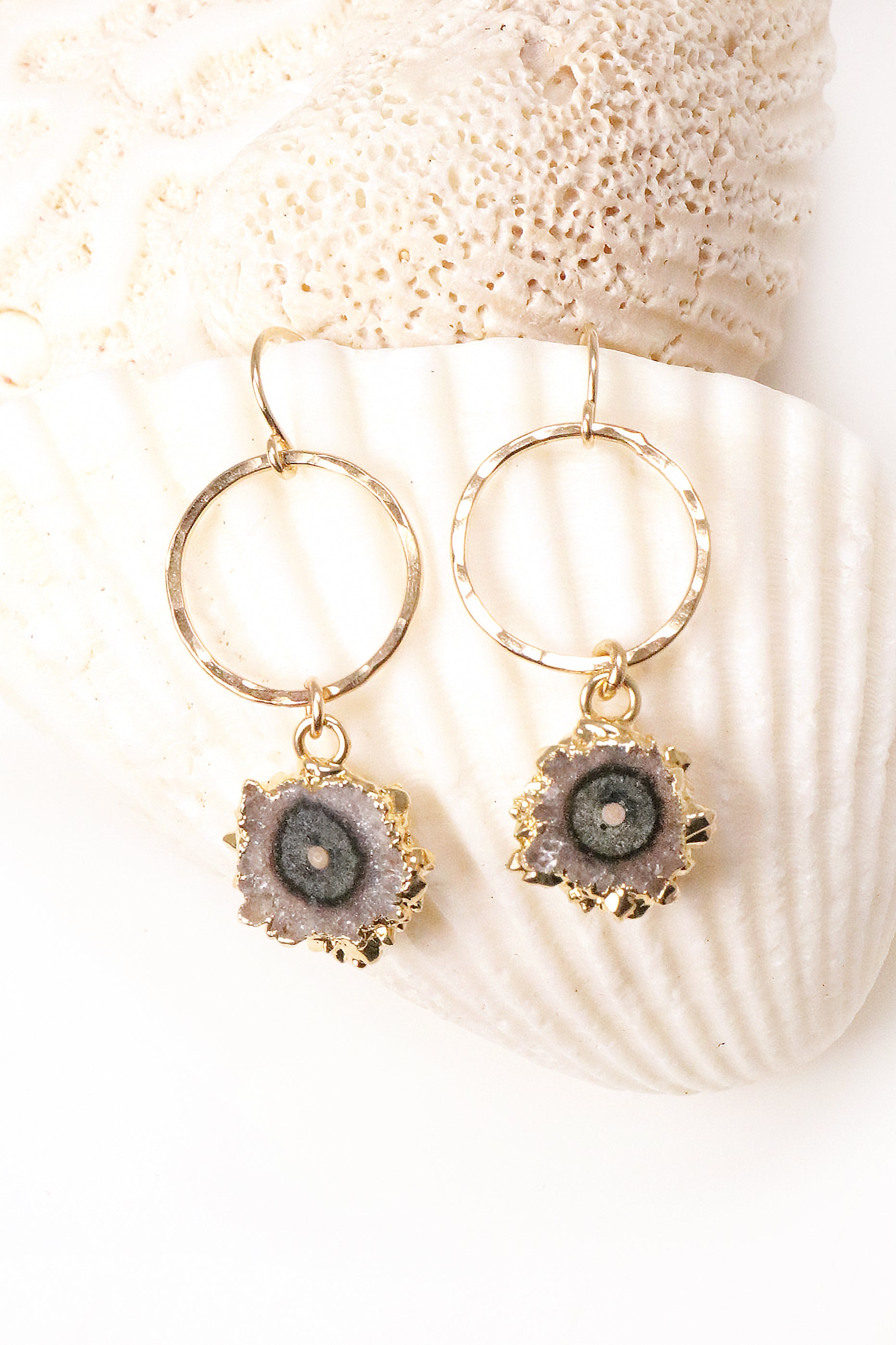 Petite Stalactite Hoop Earrings