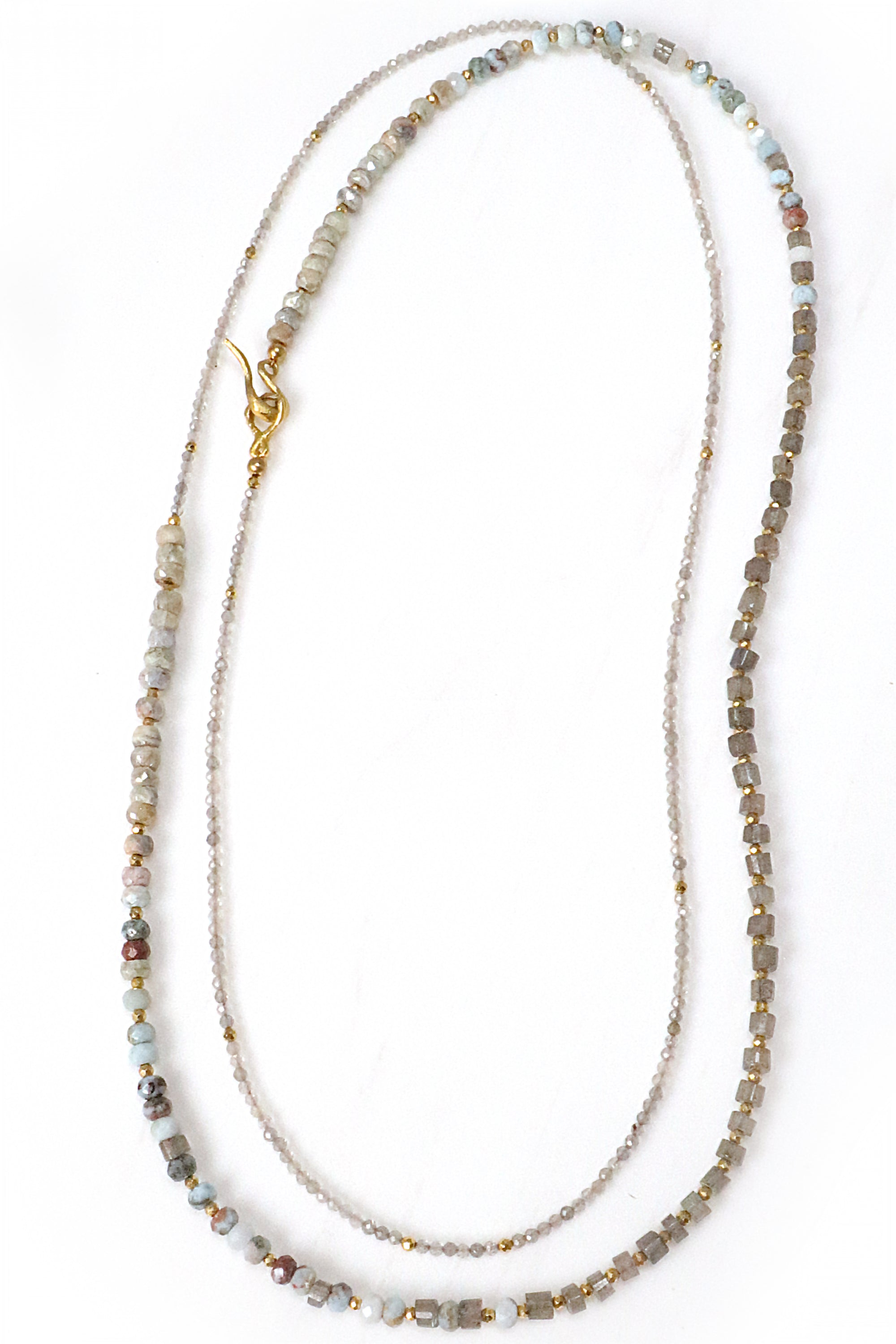 Labradorite and Larimar Layering Necklace