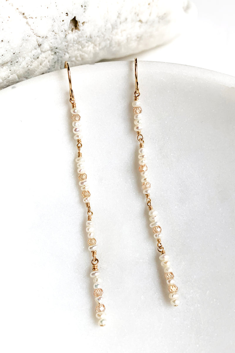 Pearl Duster Earrings