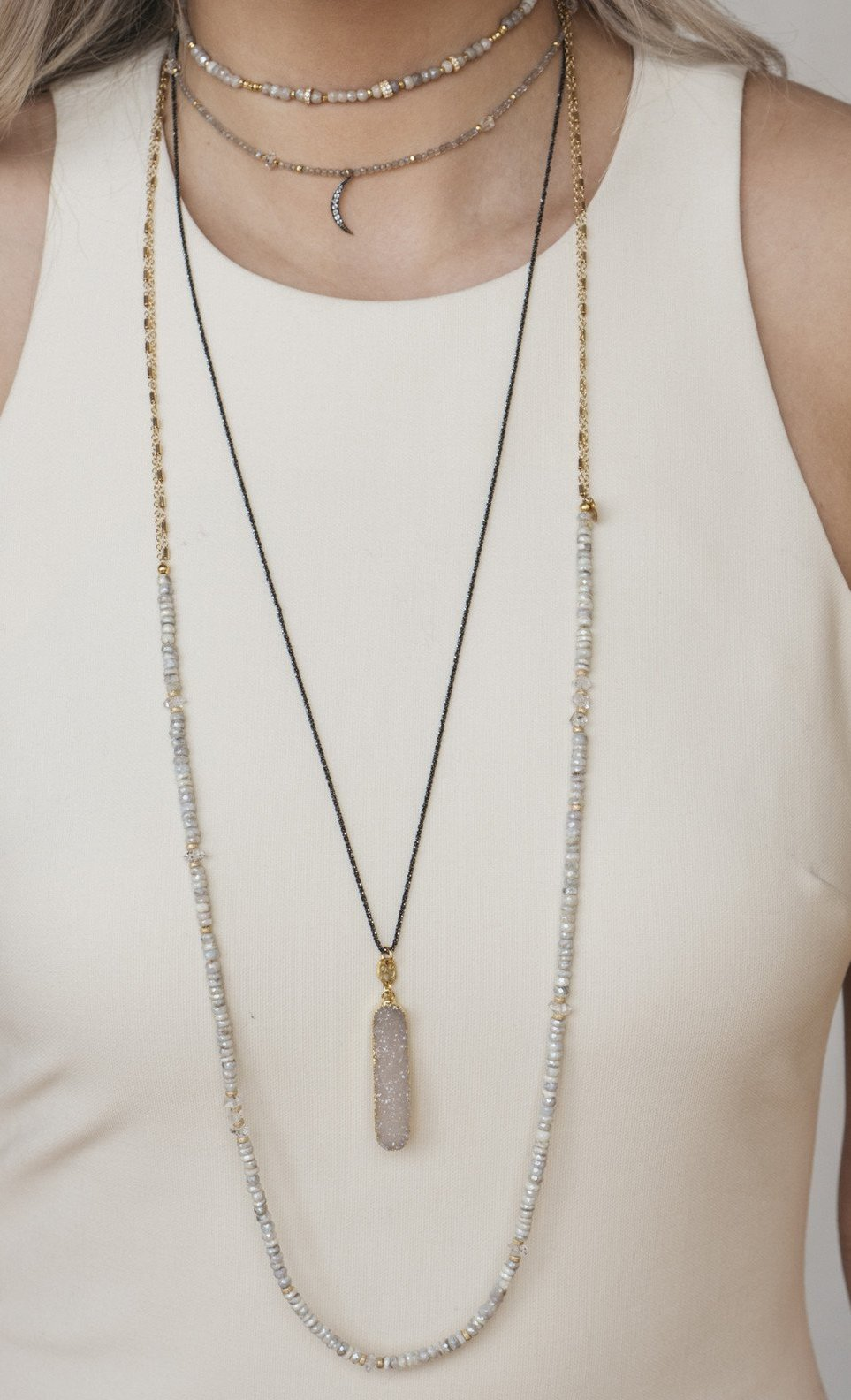 Virago Druzy Necklace