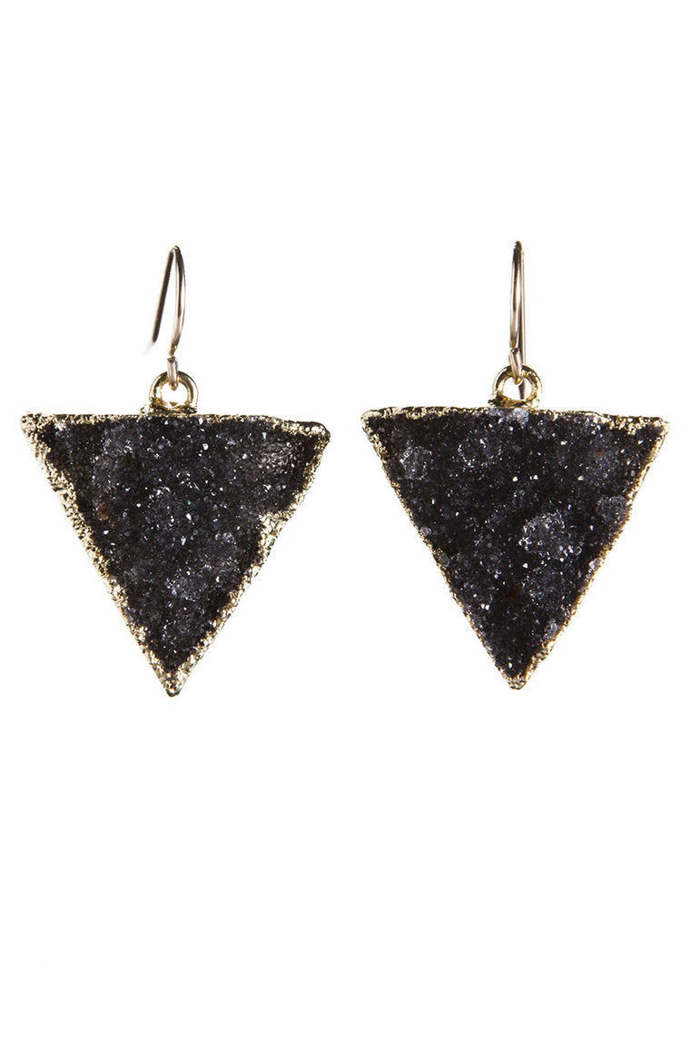 Triangle Druzy Earrings