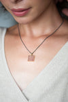 Petite Square Druzy Necklace