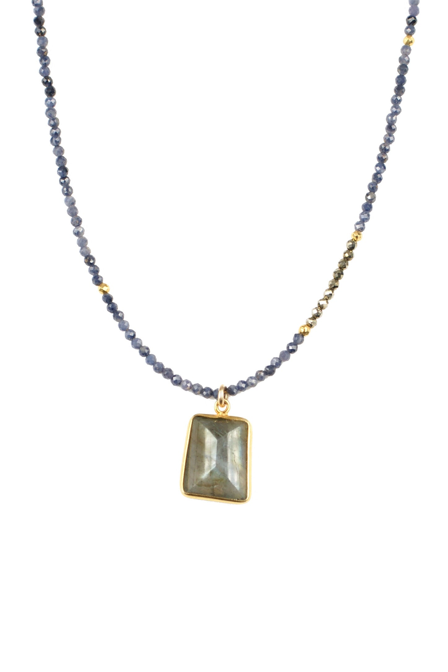 Sapphire and Labradorite Necklace