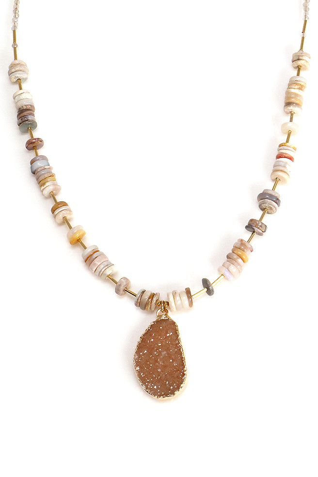 Opal Druzy Necklace