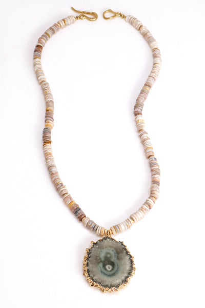 Opal and Stalactite Statement Necklace