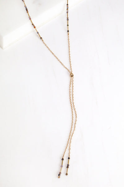 Ruby and Sapphire Lariat Necklace