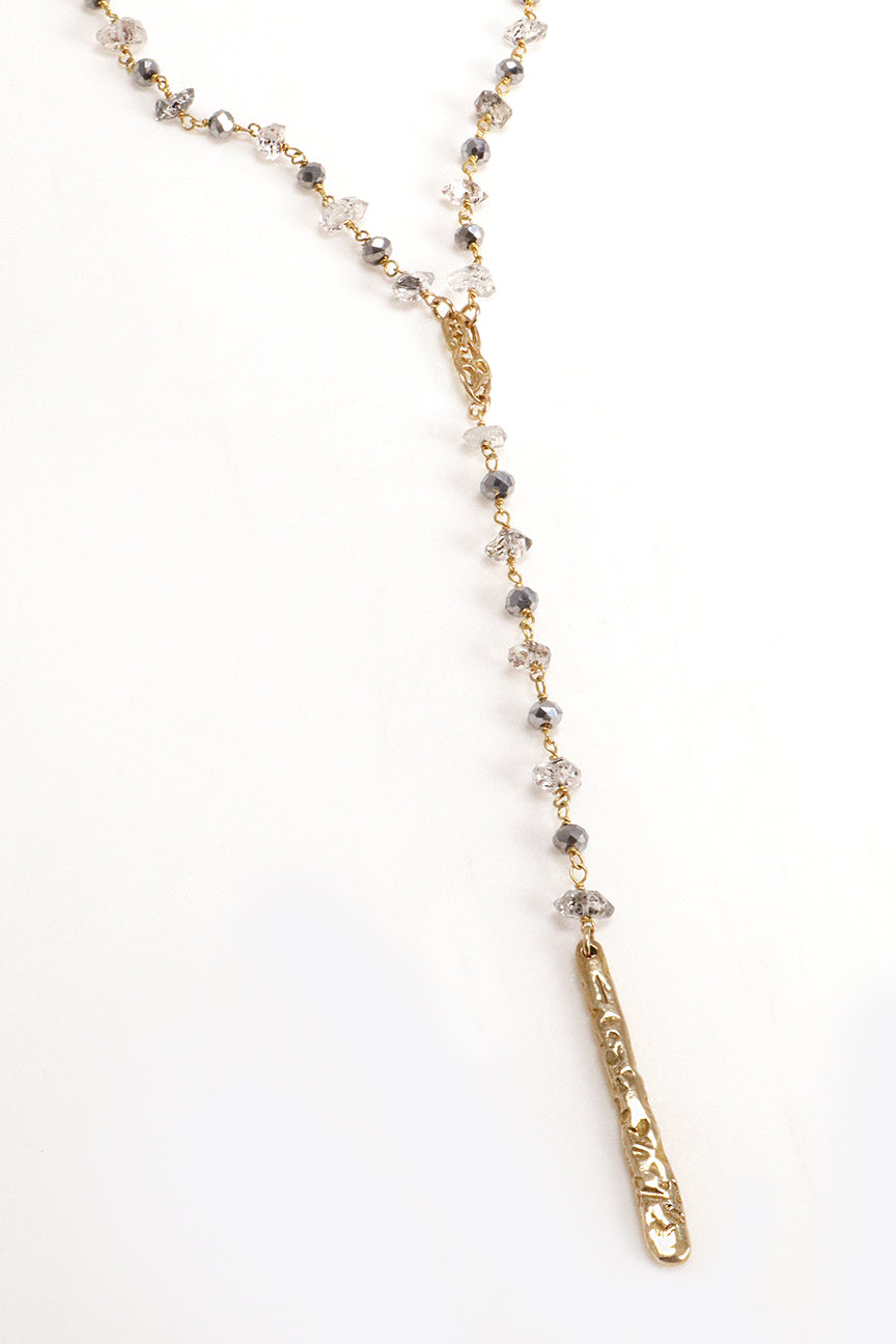 Herkimer Diamond Y Necklace