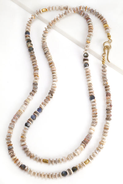 Opal and Kyanite Layering Necklace