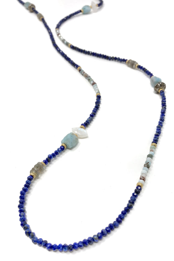 Lapis and Larimar Layering Necklace