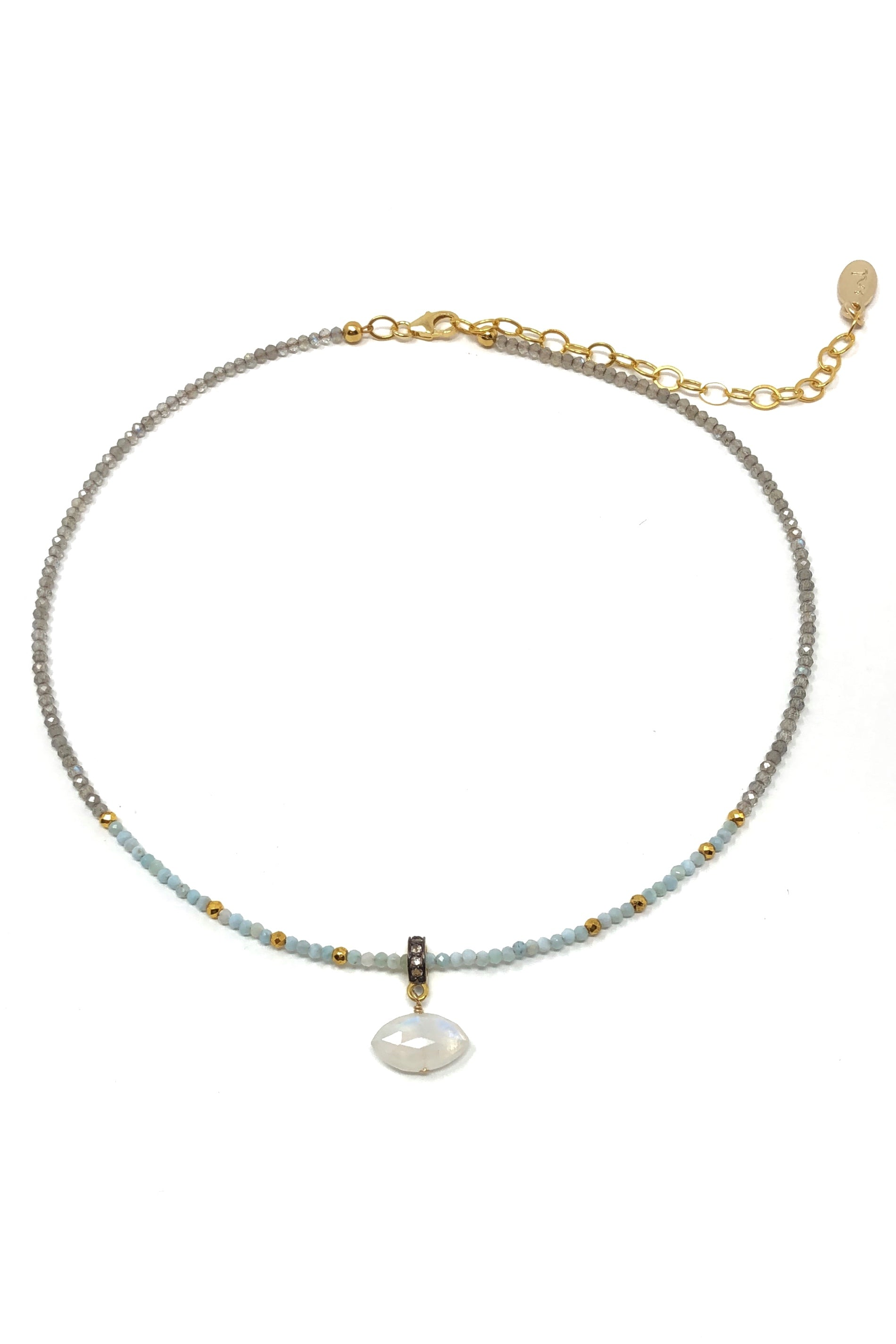 Moonstone Evil Eye Necklace