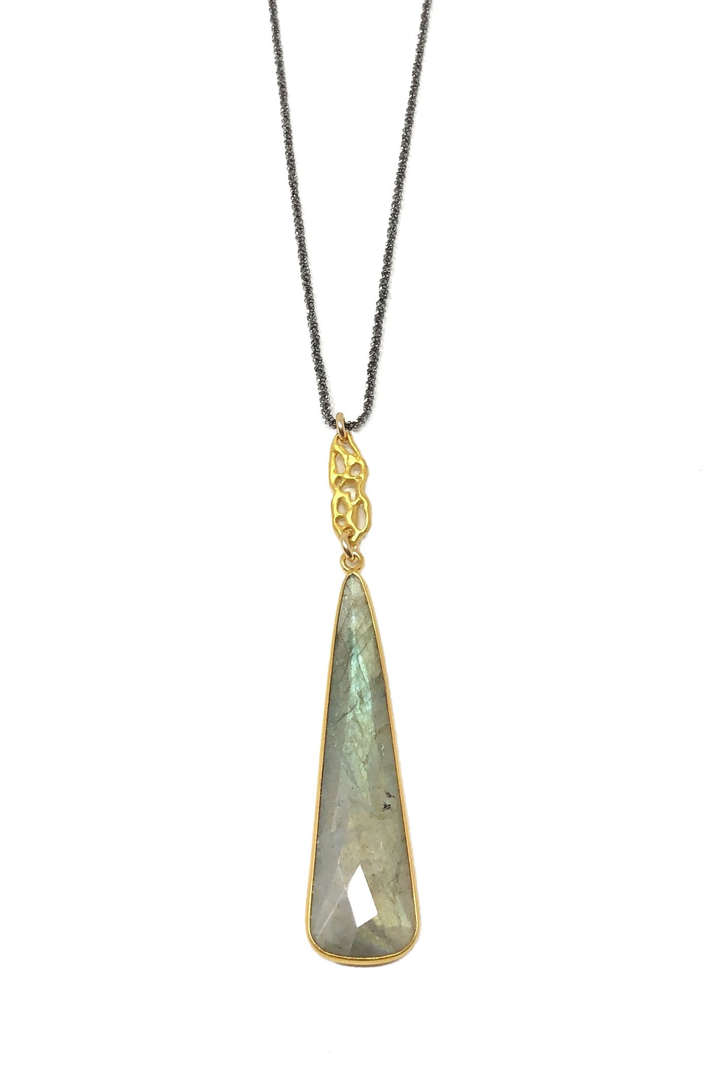 Labradorite Bell Necklace