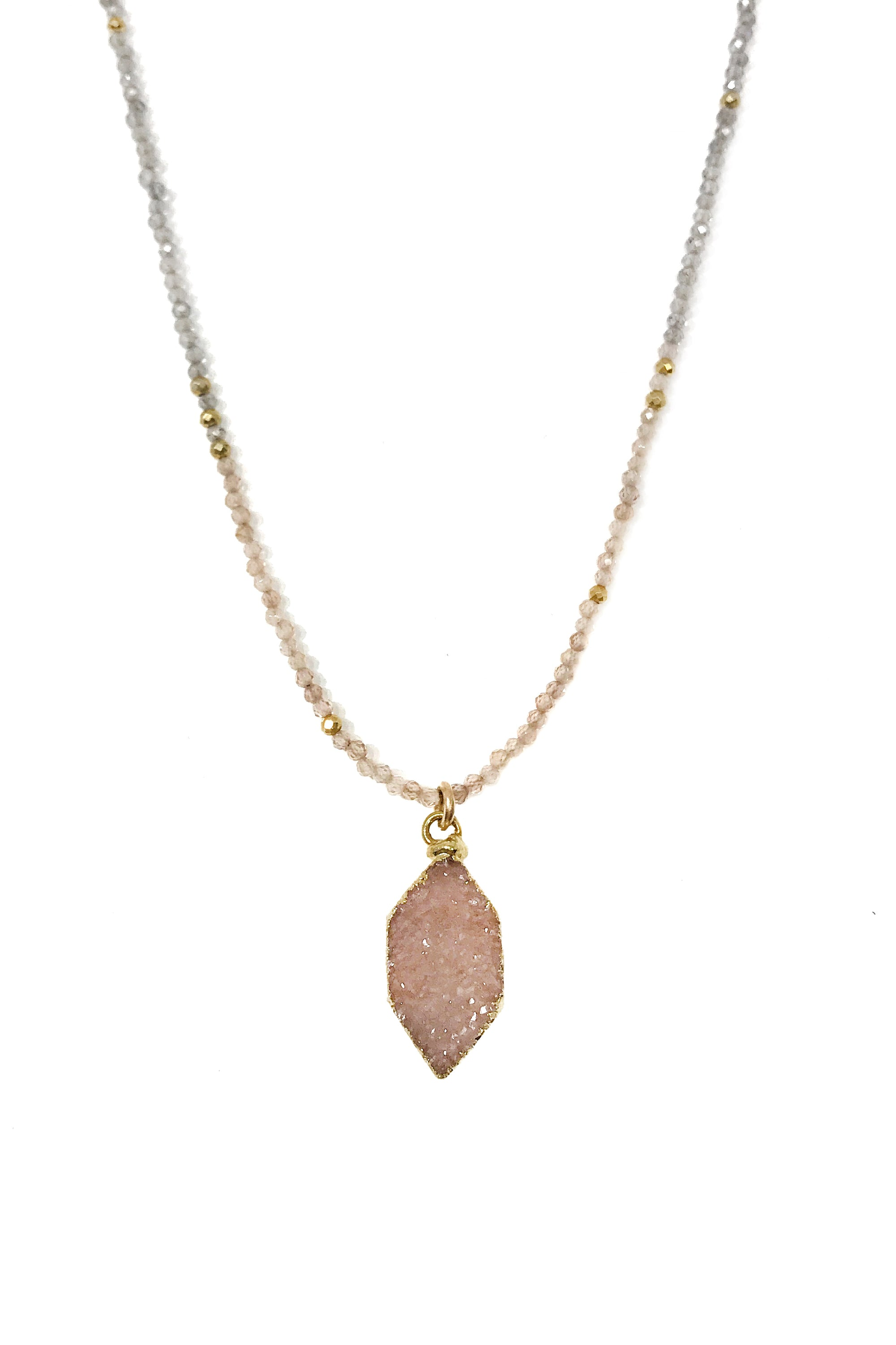 Harlequin Druzy Necklace