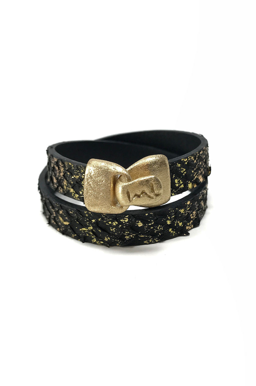 Electrify Black Leather Wrap